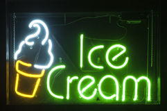 Neon Ice Cream Royalty Free Stock Image