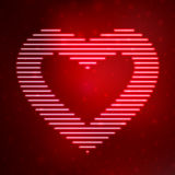 Neon icon heart Royalty Free Stock Image
