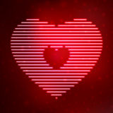 Neon icon heart Royalty Free Stock Photography