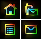 Neon Icon Royalty Free Stock Images
