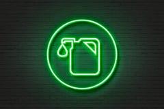 Neon icon light fuel. Wall sign vector illustration