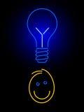 Neon idea Stock Image