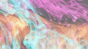 Neon ink in water. Video of neon ink in water stock footage