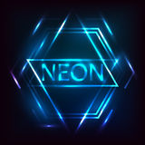 Neon inscription. Stock Image