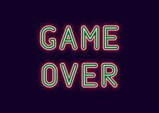 Neon Inscription Of Game Over. Vector Stock Photos