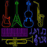 Neon instruments Stock Photo