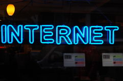 Neon Internet Sign Royalty Free Stock Image