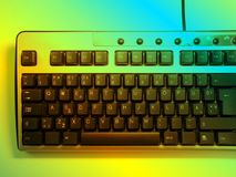 Neon keyboard. Background royalty free illustration
