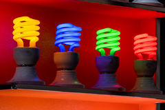 Neon lamp on display stand Stock Image
