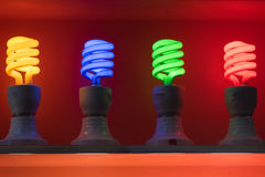 Neon lamp on display stand Royalty Free Stock Photos
