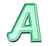 Neon letter A Stock Photo