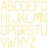 Neon Letters, Alphabet Royalty Free Stock Image