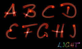 Neon letters Royalty Free Stock Photography