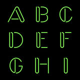 Neon Letters Stock Image