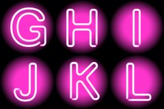 Neon letters Stock Images