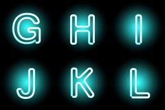 Neon letters Royalty Free Stock Image