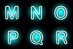 Neon letters. Vector mesh realistic letters of neon tubes. Gradient mash vector illustration