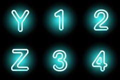 Neon letters Stock Photo