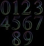 neon liczba Zdjęcie Royalty Free