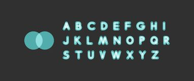 Neon light alphabet. Dotted font. Abstract vector background with letter signs. vector illustration