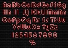 Neon light alphabet stock illustration
