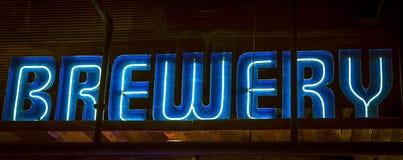 Neon light banner Stock Photo