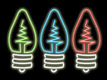 Neon light bulbs vector illustration