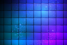 Neon light cube background Royalty Free Stock Image