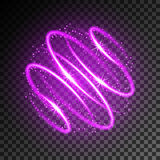 Neon light effect Royalty Free Stock Image
