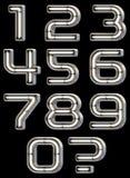 Neon light font Stock Image