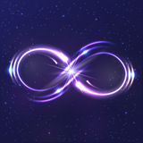 Neon light infinity symbol Royalty Free Stock Image