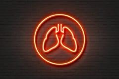 Neon Light Lungs stock illustration