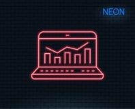 Marketing statistics line icon. Web analytics symbol. Royalty Free Stock Images