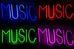 Neon Light Music Blue Red Green Pink Royalty Free Stock Photos