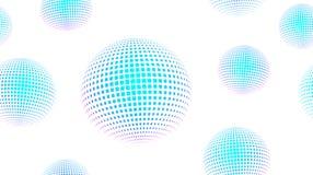 Neon Light Particles, Seamless Pattern Design stock illustration