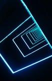 Neon light pattern in dark environment Royalty Free Stock Photos