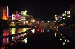 Neon light reflection Royalty Free Stock Image
