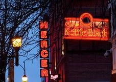 Neon Light Signage In Edmonton Alberta Stock Images