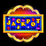 Neon Light signboard for Jackpot. Easy to edit vector illustration of Neon Light signboard for Jackpot stock illustration
