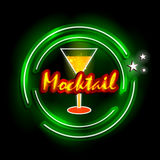 Neon Light signboard for Mocktail shop Royalty Free Stock Photos