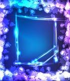 Neon light splater frame Stock Photos