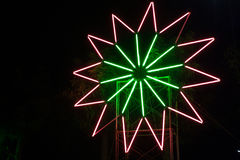 Neon light star Stock Images