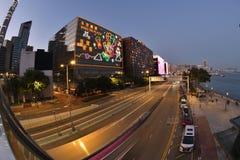 Neon light and traffic Hong Kong New year