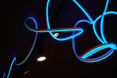 Neon light tube by curved, Royalty Free Stock Photo