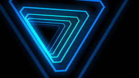 Neon light, tunnel animation. stock video footage