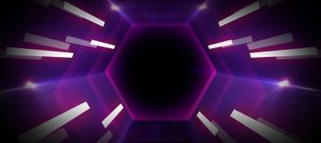 Neon light tunnel royalty free illustration