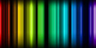 Neon Lights. Rainbow colored neon vertical lights royalty free illustration