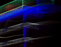 Neon lights. Blurred by a slow shutter speed Royalty Free Stock Photo