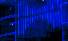 Neon lights. Blurred by a slow shutter speed Stock Image