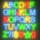 Neon lights - alphabet Stock Photo